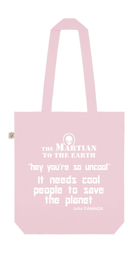 ORGANIC COTTON BAG CANDY  ENGLISH MESSAGE - THE MARTIAN  Julia DANINOS